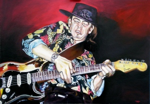 2009-stevie-ray-vaughan-70x100-smalti-su-cartone